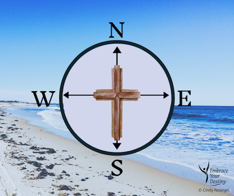 Jesus knows about rejection. He's been there. cross and compass superimposed on a beach