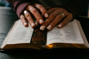 woman reading the Bible. Are you hungry for Love?
