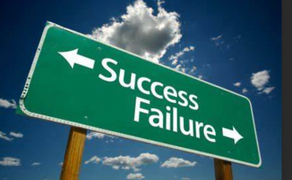 Believe for the impossible. success/failure