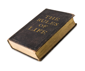rules vs. relationship. A book titled the rules of life